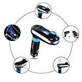 [Upgraded Version] VicTsing Bluetooth MP3 Player FM Transmitter Hands-free Car Kit Charger, Dual USB Charging 5V/2.1A Output, Micro SD/TF Card Reader Slot for iPhone 7 SE 6s 6s Plus iPhone 6 6 Plus, Samsung Galaxy S6 S6 Edage S7 S7 Edage, iPad, etc - Silver Bild 5