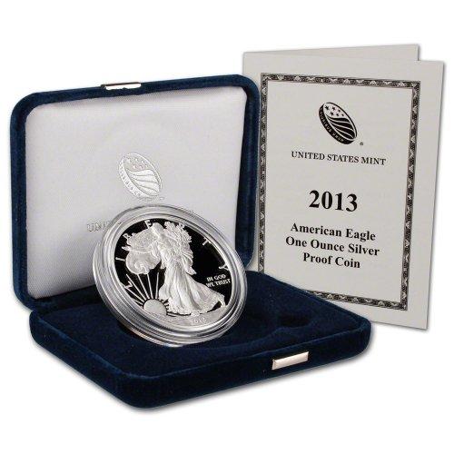 2013 W American Silver Eagle Proof $1 OGP U.S. Mint ()
