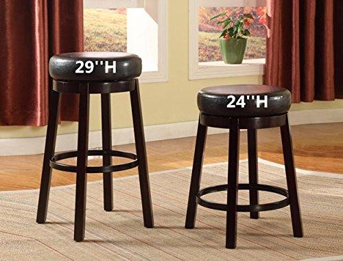 (Click 2 Go 20''x20''x29''H Wendy Espresso Cushion Swivel Stool set of 2)