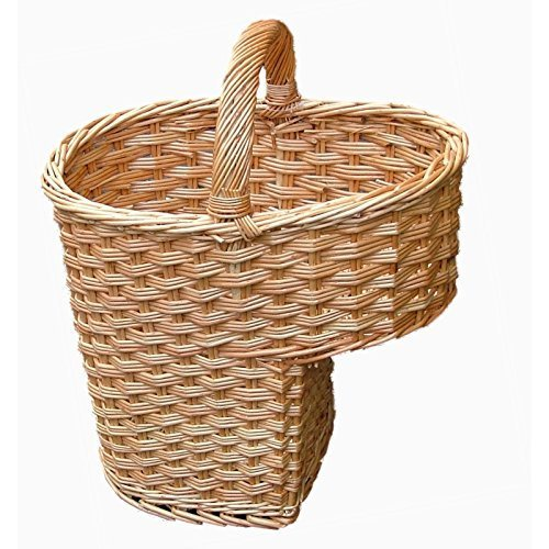 Wicker Stair Basket - Buff Willow by Somerset Levels (Baskets Somerset Willow)