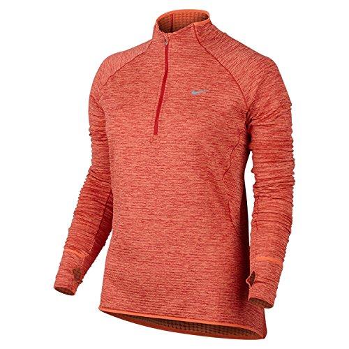 - NIKE Element Women's Sphere 1/2-Zip Long-Sleeved Running Top (Small, Max Orange)