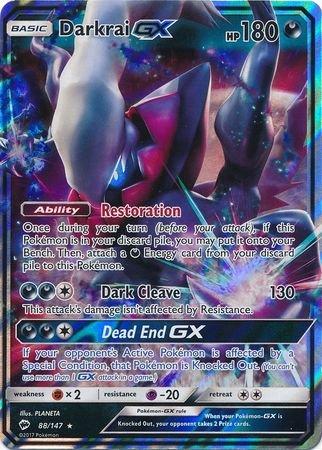 Darkrai-GX - 88/147 - Ultra Rare - Sun & Moon: Burning - Pokemon Cards Darkrai