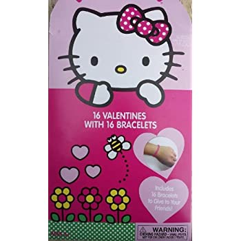 Amazon.com : Kids Hello Kitty Valentines Day Mini Greeting ...