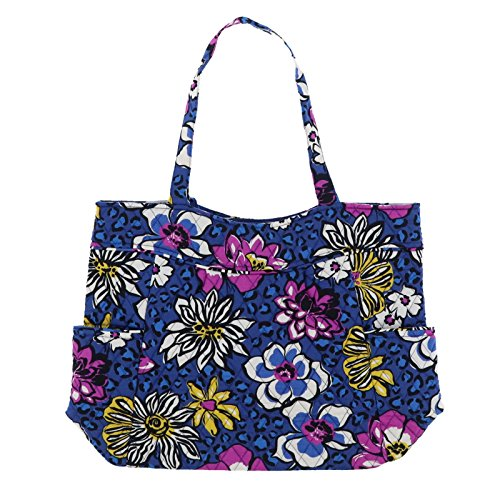 Vera Bradley Pleated Tote (African Violet) With Solid Purple Lining