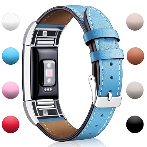 Light Blue Leather Band - 2