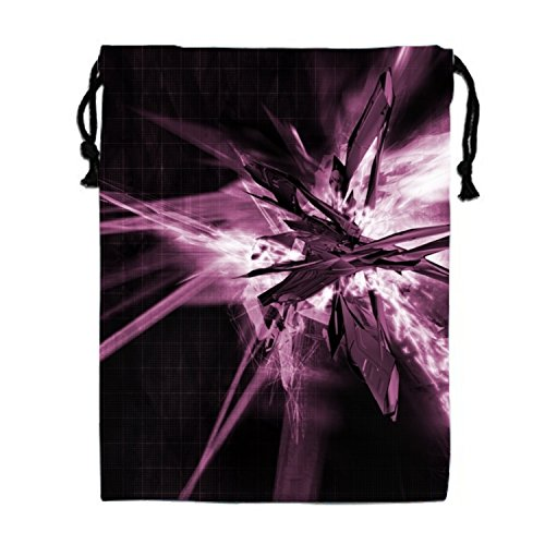 Abstract Artistic Colors Music Pattern Shapes Texture Drawstring Bags Waterproof Party Favors Pouch Tote Bag For Women (Fun Halloween Activities For Music Class)