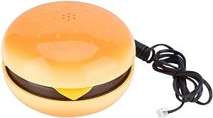 Vikye Landline Phone, Novelty Emulational Hamburger Telephone, Wire Landline Phone Home Decoration for Friends or Families