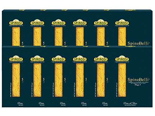 Spinobelli Egg Pasta with Omega 3 by Spinosi (Case of 12 - 8.8 Ounce Packages)