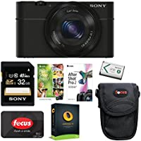 Sony DSC-RX100 Digital Camera (Black) with 32GB Accessory Bundle