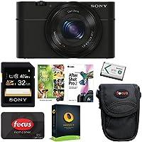 Sony DSC-RX100 Digital Camera (Black) with 32GB Accessory Bundle