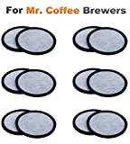 Tools & Hardware : 12-Pack of Mr. Coffee Compatible Water Filters - Universal Fit Mr Coffee Compatible Filters - Replacement Charcoal Water Filter Discs for Mr Coffee Coffee Brewers - Better Than OEM!
