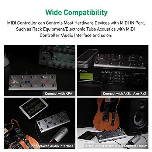 meloaudio MIDI Commander para Guitarra, Pedal Controlador MIDI USB Portátil Multiefectos con interruptores de pie: Amazon.es: Instrumentos musicales