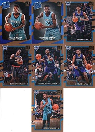 2017-18 Donruss Basketball Charlotte Hornets Set Set of 7 Cards: Kemba Walker(#16), Nicolas Batum(#17), Michael Kidd-Gilchrist(#18), Dwight Howard(#19), Jeremy Lamb(#20), Dwayne Bacon(#161), Malik Brother(#190)