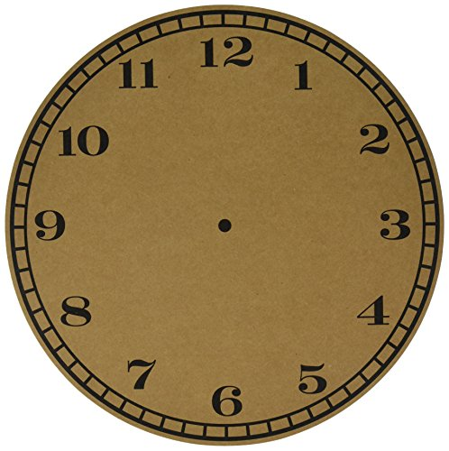 (American Crafts Specialty 12 Pack of 12 x 12 Inch Clock on Kraft Paper Piece)