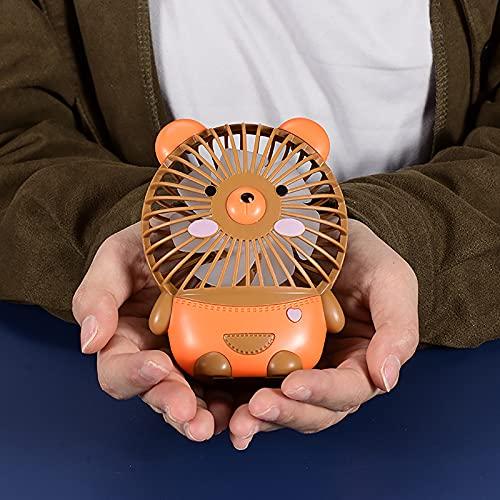 Ymibull Portable Rechargeable Fan Mini Handheld Pocket Air Cooler Desk Quiet USB Cable Mini Electric Fan (Brown)