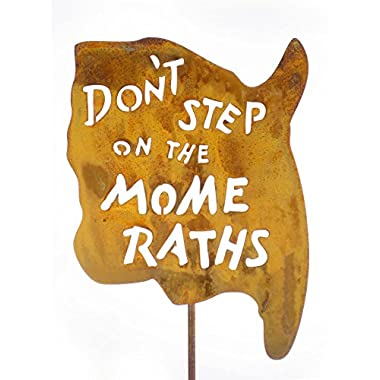 Don't Step on the Mome Raths Steel Yard and Garden Sign