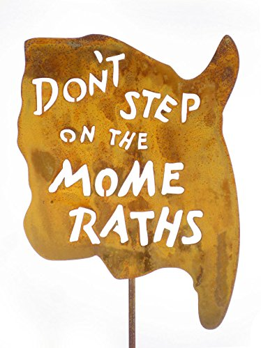 Zeds Zombie Ranch Don't Step on The Mome Raths Steel Yard and Garden Sign