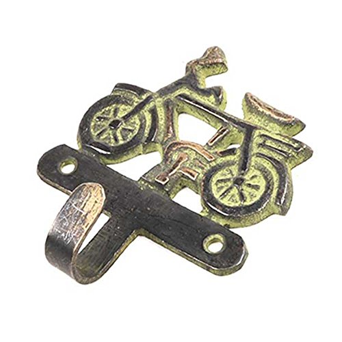 1 Piece Racers Bicycle Single With Green Patina Brass Wall Hooks Cloth Coats Hangers Key Accessories Holders Online HK-599 ()