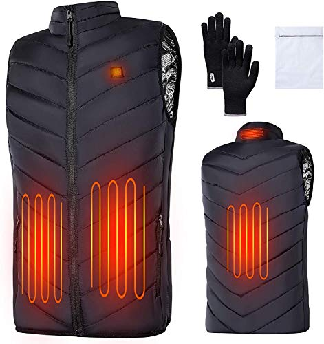 EXTSUD Heated Vest for Men and Women, USB Charging Electric Body Warmer Gilet 4 Heating Zones Heated Jacket for Winter…