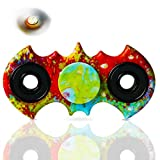 Fidget Hand Spinner, VOLADOR Bat-shape Relieve Stress Fidget Spinner For Autism and ADHD Rotation Time Long Anti Stress Toys