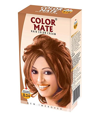 Buy Color Mate Hair Color Cream Golden Copper 130ml Pack Of 2