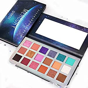 QIBEST 18 Colors Pearl Eye Shadow Powder Palette Matt Eyeshadow Cosmetic Makeup matte and shimmer eyeshadow palette eyeshadow pigments make up palette (3)