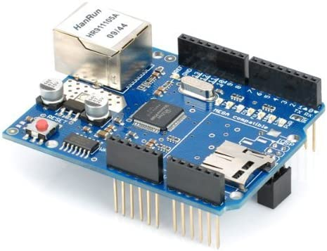 HiLetgo W5100 Ethernet Network Shield W5100 Ethernet Expansion Board with SD Card Slot for Arduino UNO MEGA2560