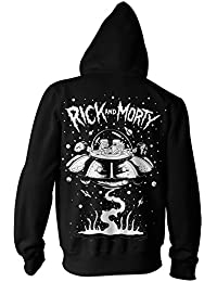 Rick and Morty Spaceship Adult Zip-Up Hoodie Sweatshirt