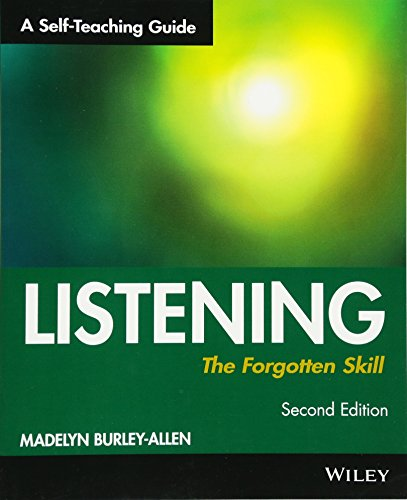 Listening  The Forgotten Skill  A Self Teaching Guide