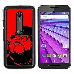 Líderes Comunismo Red Star- Metal de aluminio y de plástico duro Caja del teléfono - Negro - Motorola Moto G (3rd gen) / G3