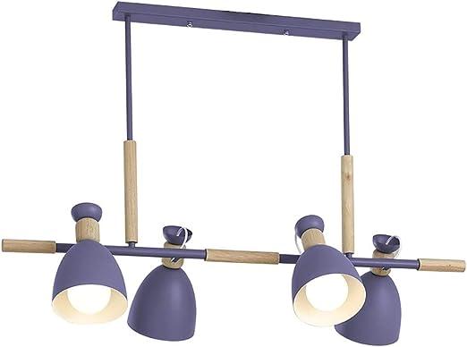 Dcqao 4 luz Moderna Verde LED luz Pendiente Cocina Isla ...