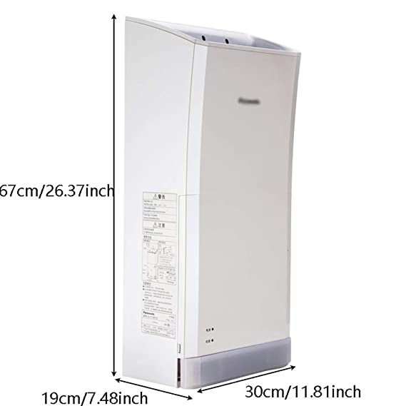 Secador de Manos Vertical de Bajo Ruido, Duradero y Que Ahorra Energía para el Hogar, 1250W: Amazon.es: Hogar