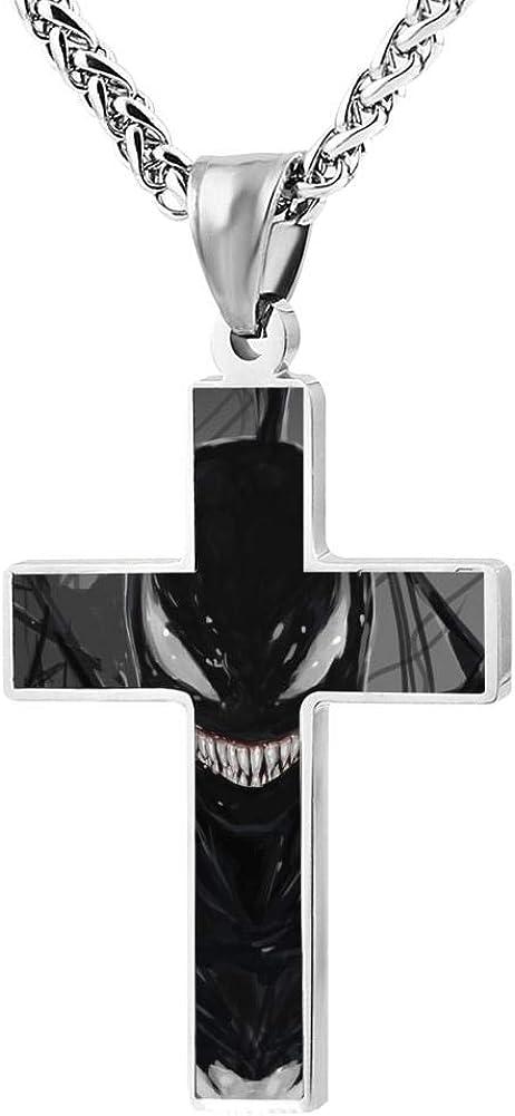 24in BEKAI Dark Ve-Nom Faith Cross Zinc Alloy Necklaces