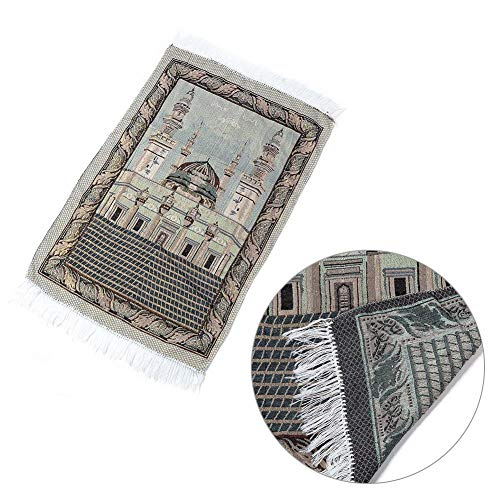 (Carpet Carpet Pad Muslim Prayer Carpet Soft Cotton Blanket With Golden Silk)