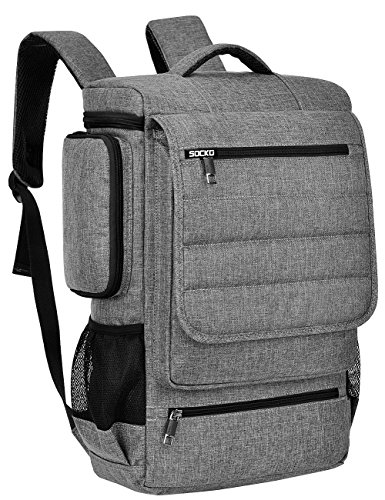 18.4 Inch Laptop Backpack,BRINCH Water Resistant Large Travel Backpack for Men Luggage Knapsack Computer Rucksack Hiking Bag College Backpack Fits 18-18.4 Inch Laptop Notebook Computer, Grey-Black