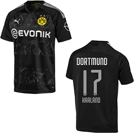 Puma Bvb Away Men S Jersey 2020 Haaland 17 M Amazon Co Uk Sports Outdoors