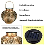 Solar Lantern Outdoor GolWof Garden Solar Lantern Outdoor Light Hexagonal Solar Lantern Decorative Waterproof LED Solar…