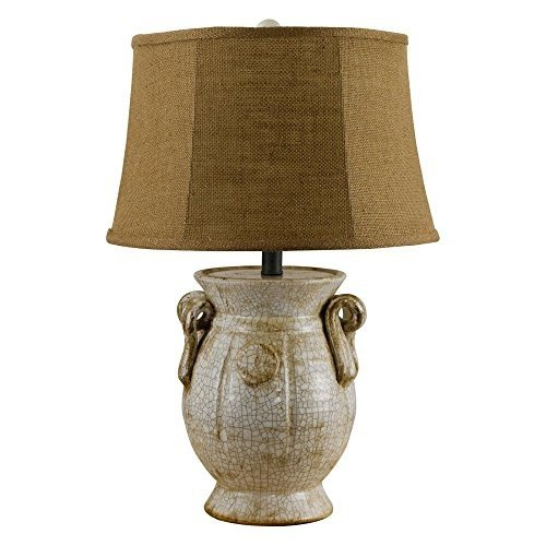 AHS Lighting L1960IV-U1 St Tropez Urn Ivory Table Lamp