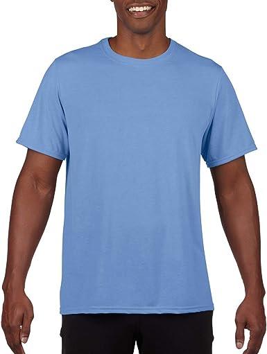 Gildan - Camiseta Deportiva Transpirable de Manga Corta para Hombre - 100% poliéster: Amazon.es: Ropa y accesorios