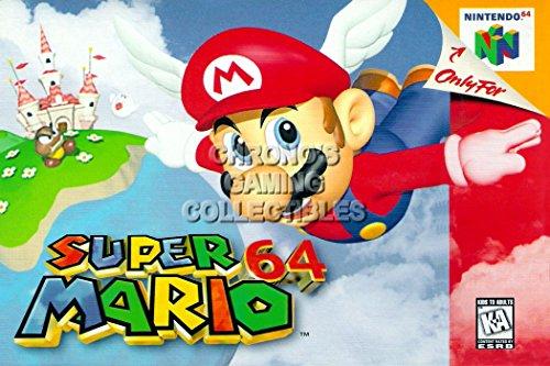"Price comparison product image CGC Huge Poster - Super Mario 64 - Nintendo 64 N64 - N64045 (24"" x 36"" (61cm x 91.5cm))"