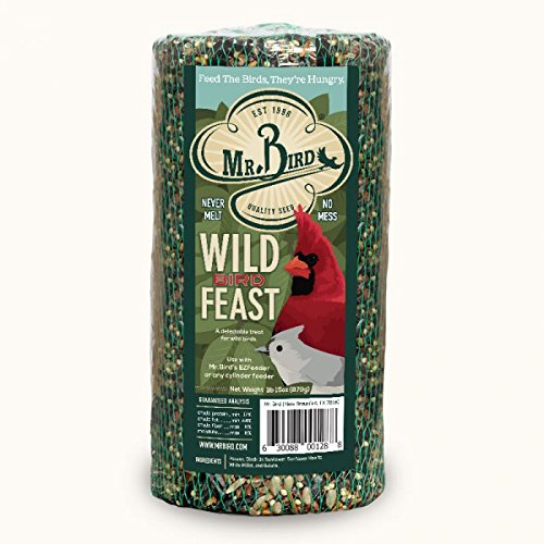 Mr. Bird Wild Bird Feast Small Cylinder - Bird Seed Cylinder Feeder