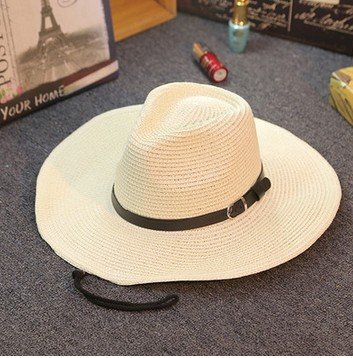 Sombrero Vaquero Hombre Adulto Panama Dom Blanco Cabeza