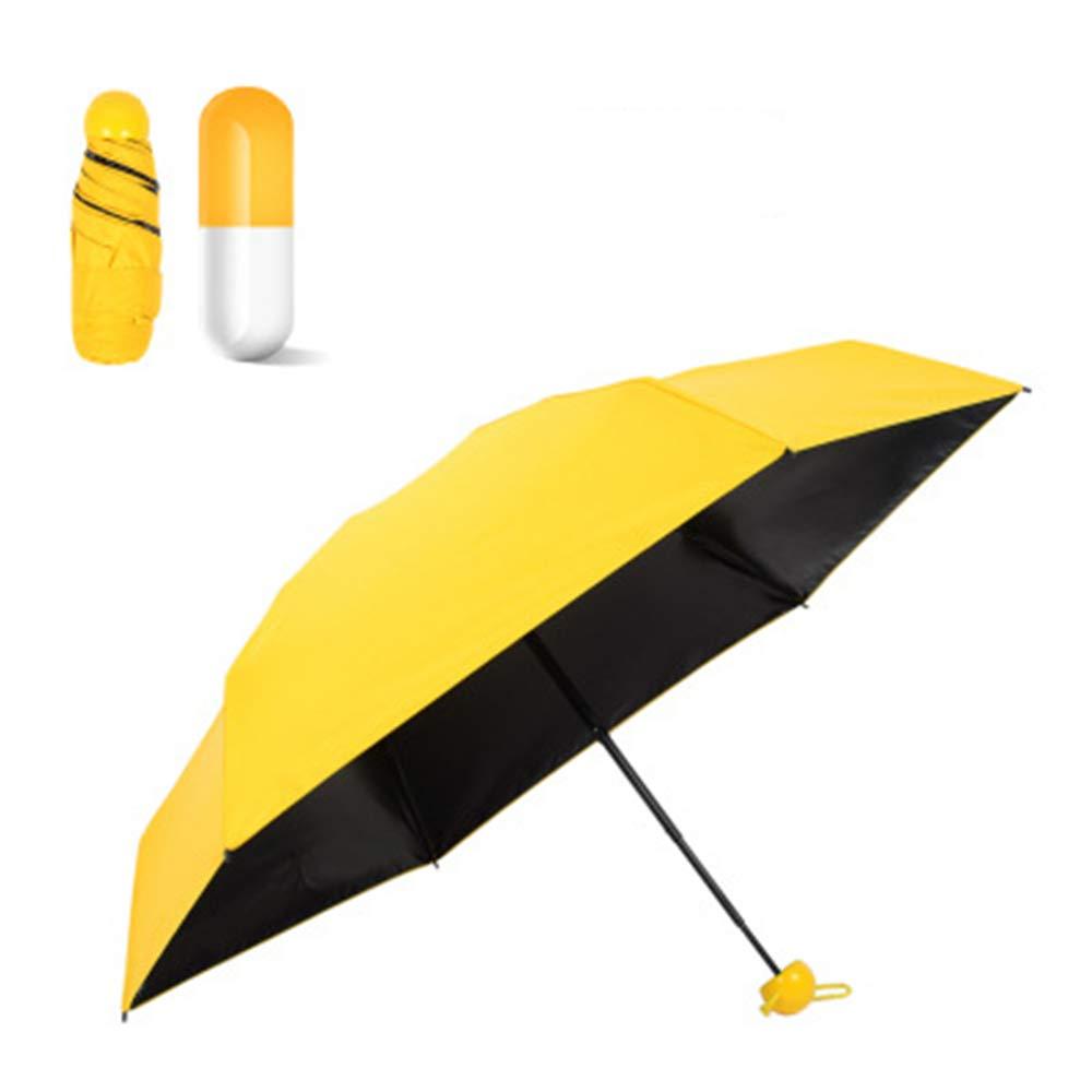 JUNDY Paraguas Plegable a Prueba de Viento de la protecci/ón Solar de la Moda Paraguas Sombrilla protecci/ón Solar Mini 50/% c/ápsula Paraguas color1 85cm