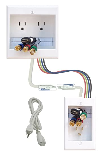 amazon com powerbridge solutions two ck 26 dual in wall cable Home Wiring Closet powerbridge solutions two ck 26 dual in wall cable management for wall