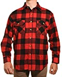 Guides Choice Pro Elite Mens Heavy Duty Flannel Shirt, Red, XXX-Large Tall
