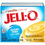 Jell-O Vanilla, Sugar Free-Fat Free Instant Pudding & Pie Filling, 1 oz