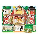 Melissa & Doug Hide & Seek Farm, Developmental Toys, Magnetic Puzzle Board, Sturdy Wooden Construction, 9 Pieces, 30.48 cm H x 23.876 cm W x 2.286 cm L