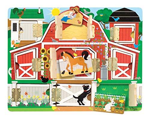 Melissa & Doug - 14592 - Magnetic Farm Hide & Seek Board (Melissa & Doug Magnetic Hide And Seek Board)