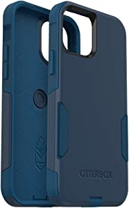 OtterBox Commuter Series Case for iPhone 12 & iPhone 12 Pro - Bespoke Way (Blazer Blue/Stormy SEAS Blue) (77-65906)