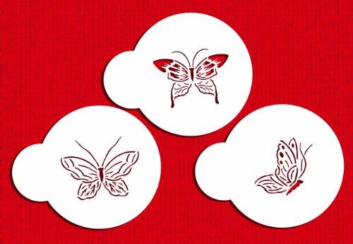 Designer Stencils C195 Butterfly Cookie Stencils, Small, Beige/Semi-Transparent